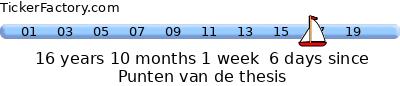 Nog acht dagen tot de proclamatie, en dan ken ik de punten van mijn thesis.