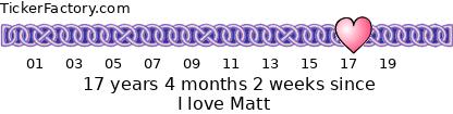 [img width=420 height=74]http://tickers.tickerfactory.com/ezt/d/4;10100;116/st/20060320/e/I+love+Matt/dt/6/k/fd9c/event.png[/img]