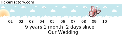 [http://tickers.TickerFactory.com/ezt/d/4;10764;94/st/20130621/e/Our+Wedding/dt/5/k/87b9/event.png]